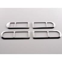 Chromuotas durų rankenėlės rėmelis tinkantis VW Bora (1J) Metai 98-04, Nerūdijantis plienas