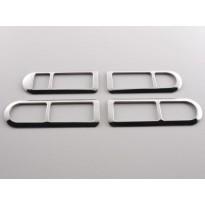 Chromuotas durų rankenėlės rėmelis tinkantis VW Polo (9N) Metai 01-05, Nerūdijantis plienas