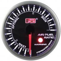Wideband oro/kuro mišinio daviklis Autogauge LED 52mm
