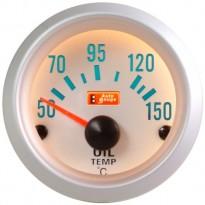 Tepalo temperatūros indikatorius Autogauge silver 52mm