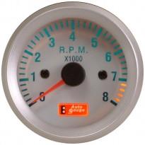 Variklio apsukų indikatorius Autogauge silver 52mm