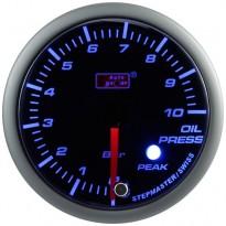 Tepalo slėgio indikatorius Autogauge Peak 52mm Mėlyna/Balta
