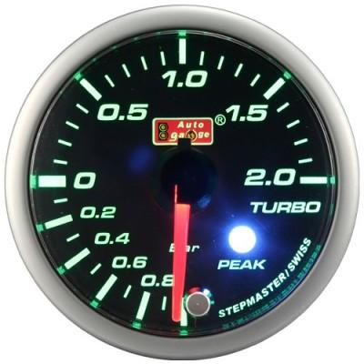 Turbinos slėgio indikatorius Autogauge Peak 60mm Žalia/Balta