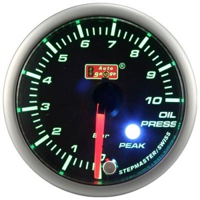 Tepalo slėgio indikatorius Autogauge Peak 60mm Žalia/Balta