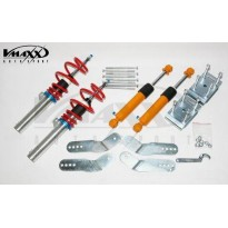 Reguliuojamo kietumo coiloveriai VW Caddy Maxi/Life   Max. FRONT AXLE load  1105Kg. --> 1200Kg. excl.4-Motion (drsnd 50mm!!) incl. REAR Leaf-Spring Adjuster!!  (NO GOCA)