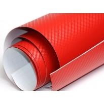 3D karbono plėvelė 127cm pločio raudonas