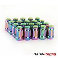 Grūdinto plieno Japan Racing veržlės 12.5x1,25 trumpos neo