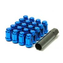 Grūdinto plieno Japan Racing veržlės 12.5x1,25 trumpos mėlynos