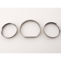 Dashboard rings for Mercedes Benz E-Class (W124) smoked chrome